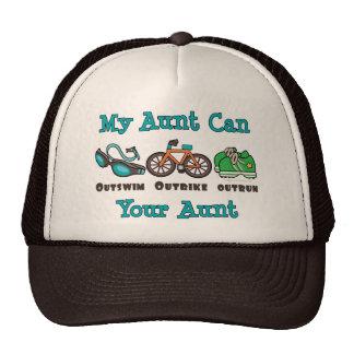 Aunt Outswim Outbike Outrun Triathlon Cap Hat