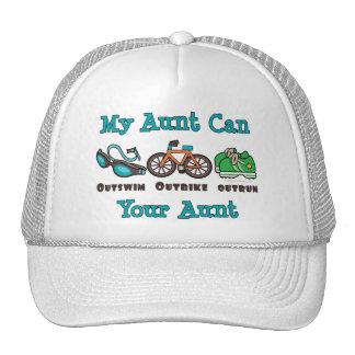 Aunt Outswim Outbike Outrun Triathlon Hat