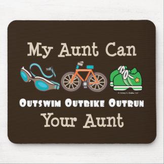 Aunt Outswim Outbike Outrun Triathlon Mousepad