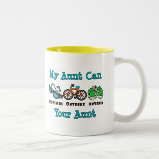 Aunt Outswim Outbike Outrun Triathlon Mug