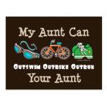 Aunt Outswim Outbike Outrun Triathlon Postcard