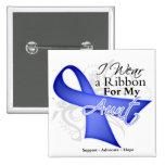 Aunt  Periwinkle Ribbon - Stomach Cancer 2 Inch Square Button