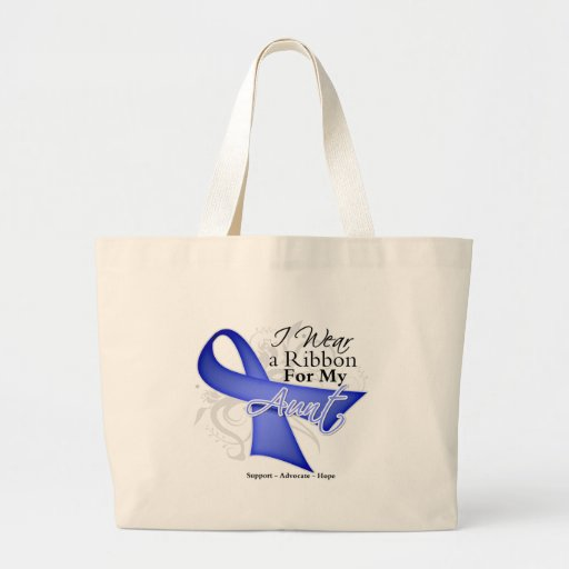 Aunt  Periwinkle Ribbon - Stomach Cancer Jumbo Tote Bag