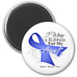 Aunt  Periwinkle Ribbon - Stomach Cancer Magnet