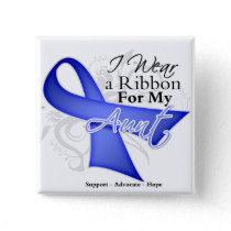 Aunt  Periwinkle Ribbon - Stomach Cancer Pinback Button