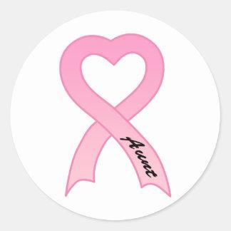 Aunt Pink Ribbon Sticker
