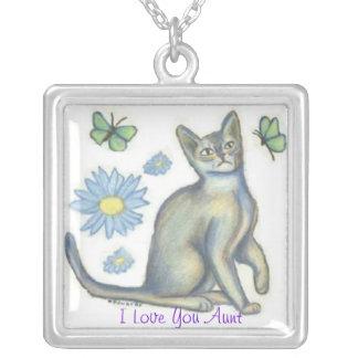Aunt Playful Cat Necklace