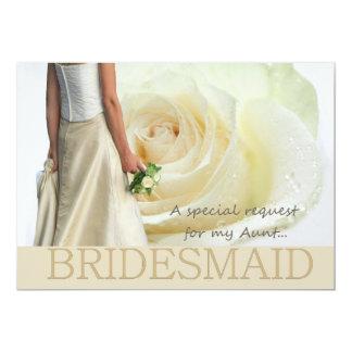 Aunt Please be Bridesmaid 5x7 Paper Invitation Card