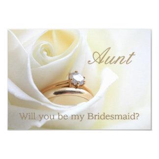Aunt Please be Bridesmaid 3.5x5 Paper Invitation Card