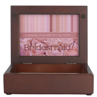 Aunt Please be Bridesmaid Memory Box