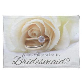 Aunt Please be Bridesmaid Placemat