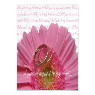 Aunt Please be Bridesmaid Magnetic Invitations