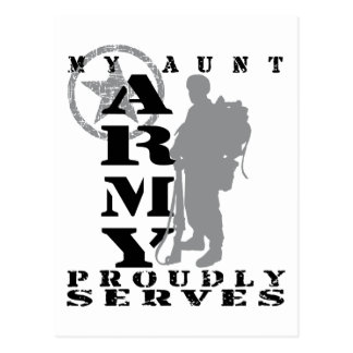 Aunt Proudly Serves - ARMY Postcard