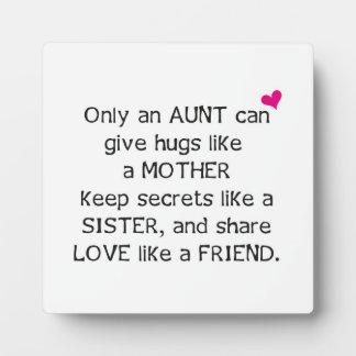 Aunt Quote Display Plaque