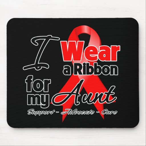 Aunt - Red Ribbon Awareness Mouse Pad