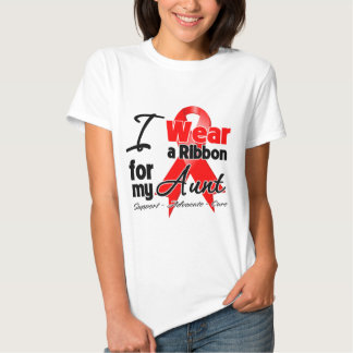 Aunt - Red Ribbon Awareness Shirt