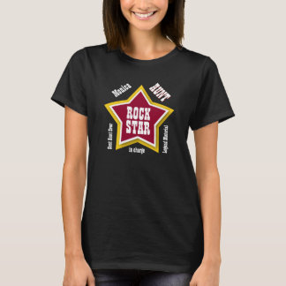 AUNT Rock Star Big Star Custom Name RED V05A T-Shirt