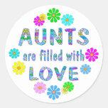Aunt Round Stickers
