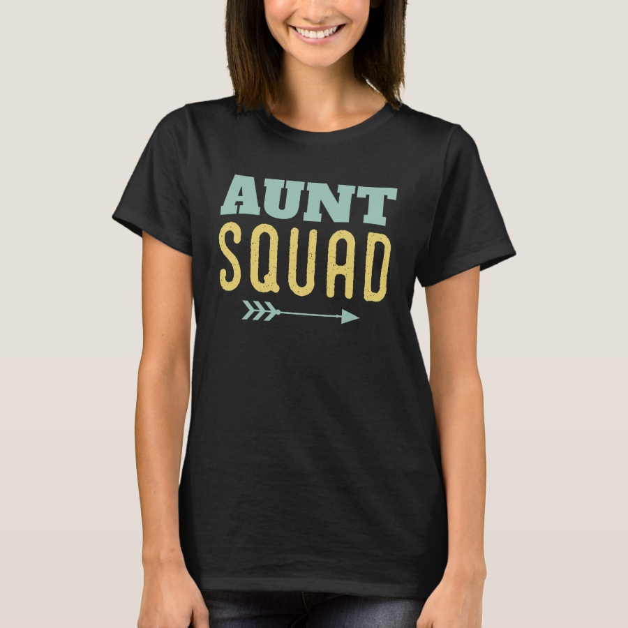 Aunt Squad - Funny Design for Aunts T-Shirt - Best Selling Long-Sleeve Street Fashion Shirt Designs