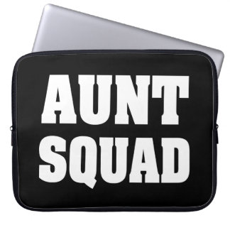 Aunt Squad funny laptop sleeve case