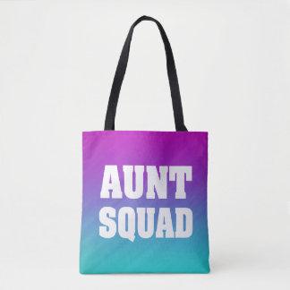 Aunt squad women's tote bag