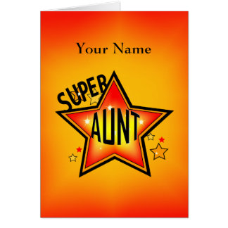 Aunt Super Star Greeting Card