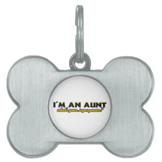 Aunt Superpower designs Pet Tags