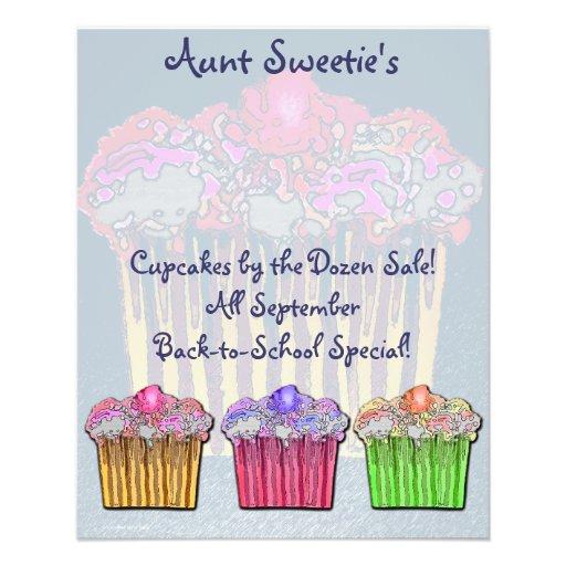 Aunt Sweetie's Cupcake Flyer