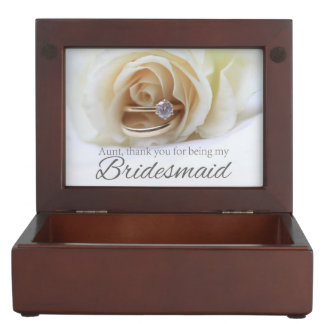 Aunt Thank you for being my Bridesmaid Keepsake Box