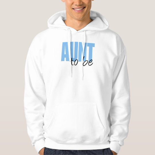 Aunt To Be (Blue Block Font) Hoodie