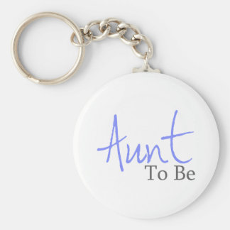 Aunt To Be (Blue Script) Keychain
