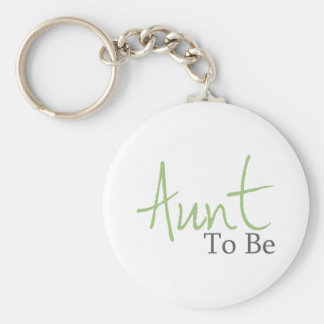 Aunt To Be (Green Script) Keychain