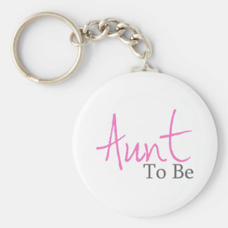 Aunt To Be (Pink Script) Keychain