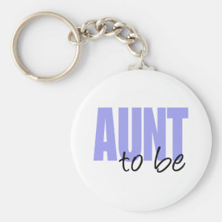 Aunt To Be (Purple Block Font) Keychain