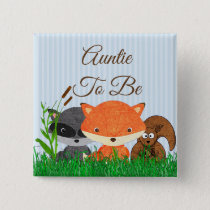 Aunt to be Woodland Creature Forest Animals Pin