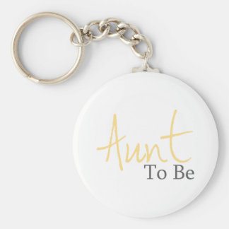 Aunt To Be (Yellow Script) Keychain