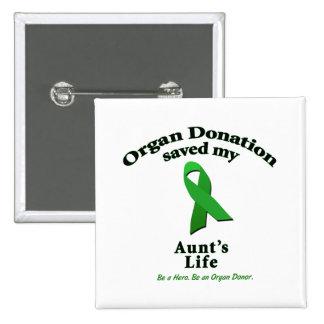 Aunt Transplant Pinback Button