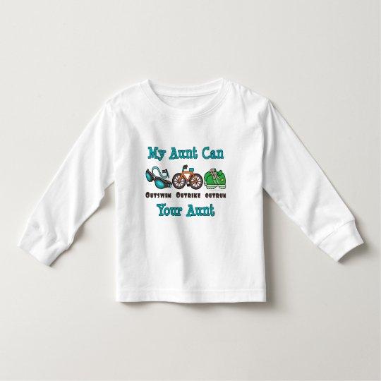 Aunt Triathlon Long Sleeve Toddler Tee Shirt