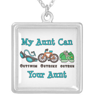 Aunt Triathlon Sterling Silver Necklace