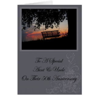 Aunt Uncle 50th Anniversary Card