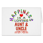Aunt & Uncle Happiness Card