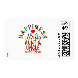 Aunt & Uncle Happiness Postage Stamps