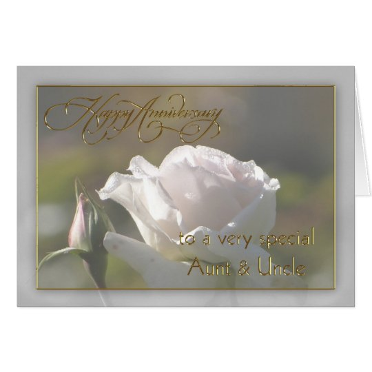 Aunt & Uncle Wedding Anniversary Card Zazzle