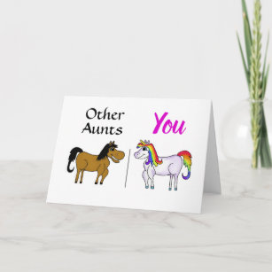 Aunt Unicorn Birthday Card