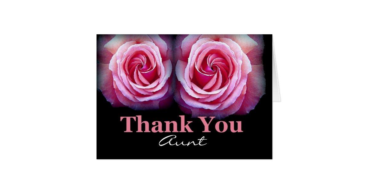 Aunt Wedding Thank You Card Zazzle