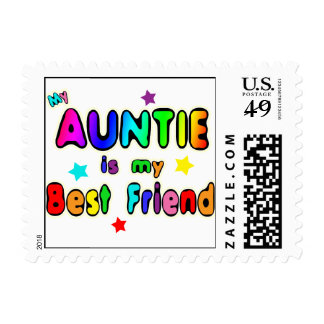 Auntie Best Friend Postage Stamp