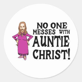 Auntie Christ Classic Round Sticker