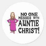 Auntie Christ Round Sticker