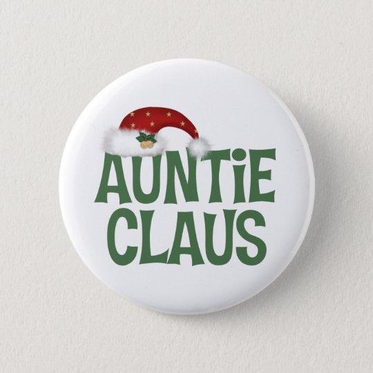 Auntie Claus Button