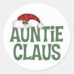 Auntie Claus Stickers